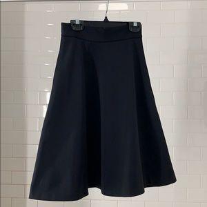 Banana Republic A Line Midi Skirt in black